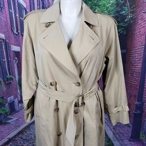 Burberry Vintage Khaki Nova Check Lined Trenchcoat